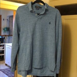 Like new light blue long sleeve polo
